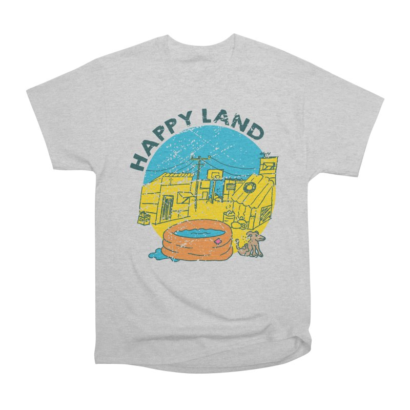 Happy Land Women's Heavyweight Unisex T-Shirt by Thirty Silver