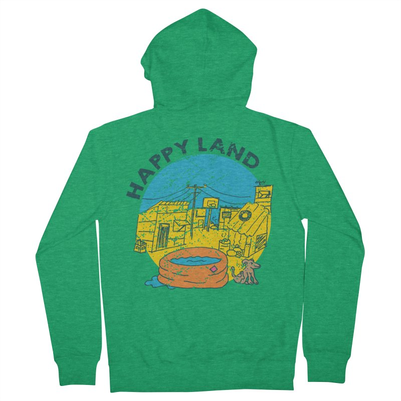 Happy Land Men's French Terry Zip-Up Hoody by Thirty Silver