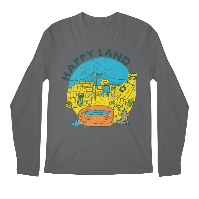 Happy Land Men's Regular Longsleeve T-Shirt by Thirty Silver