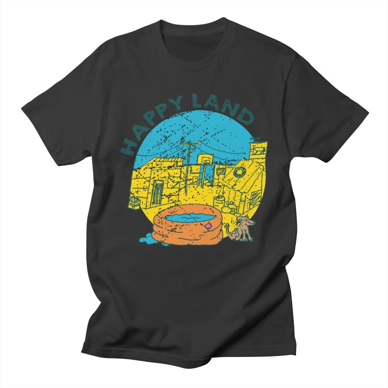 Happy Land Women's Regular Unisex T-Shirt by Thirty Silver
