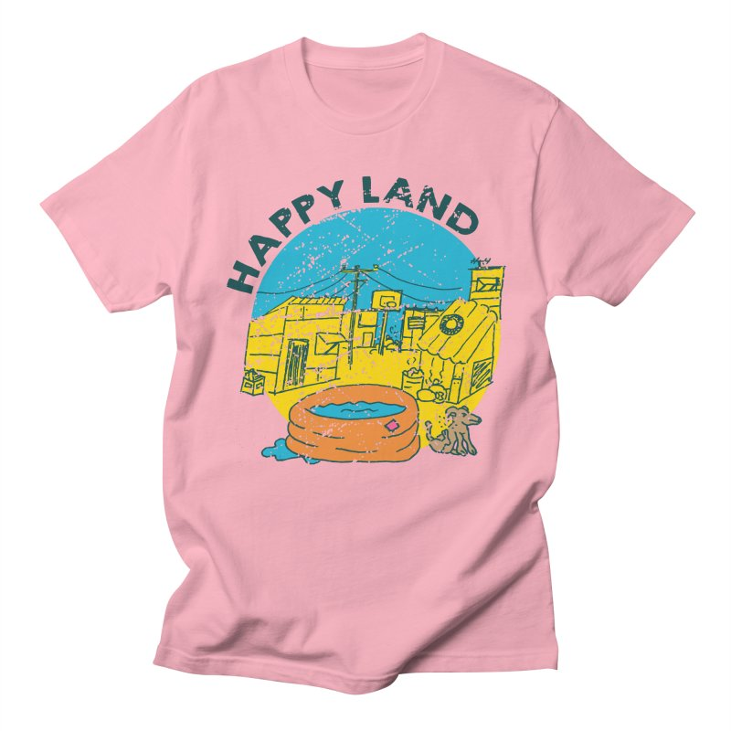 Happy Land Men's Regular T-Shirt by Thirty Silver