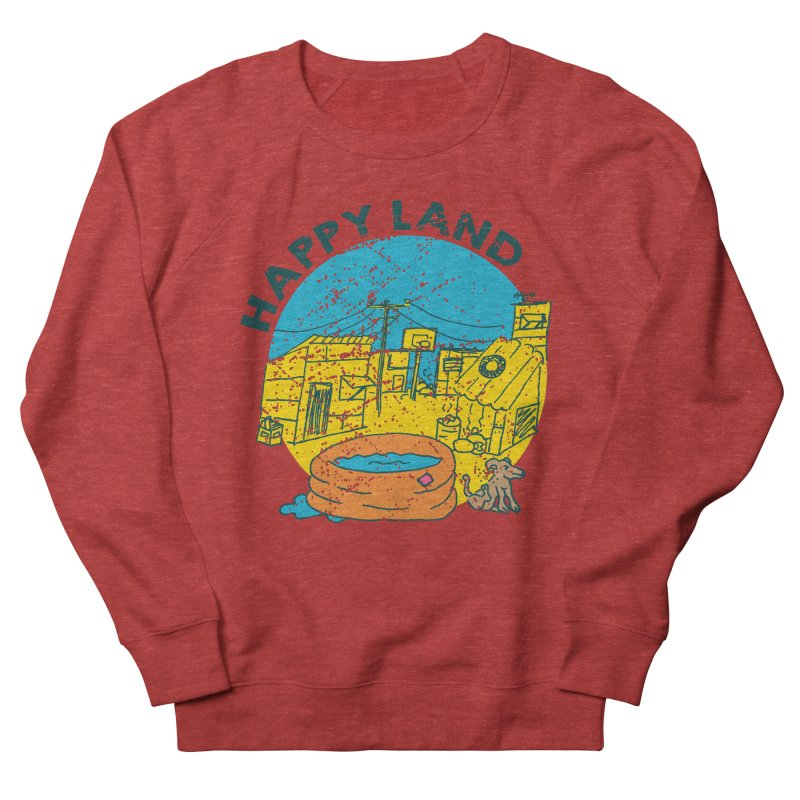 Happy Land Men's French Terry Sweatshirt by Thirty Silver