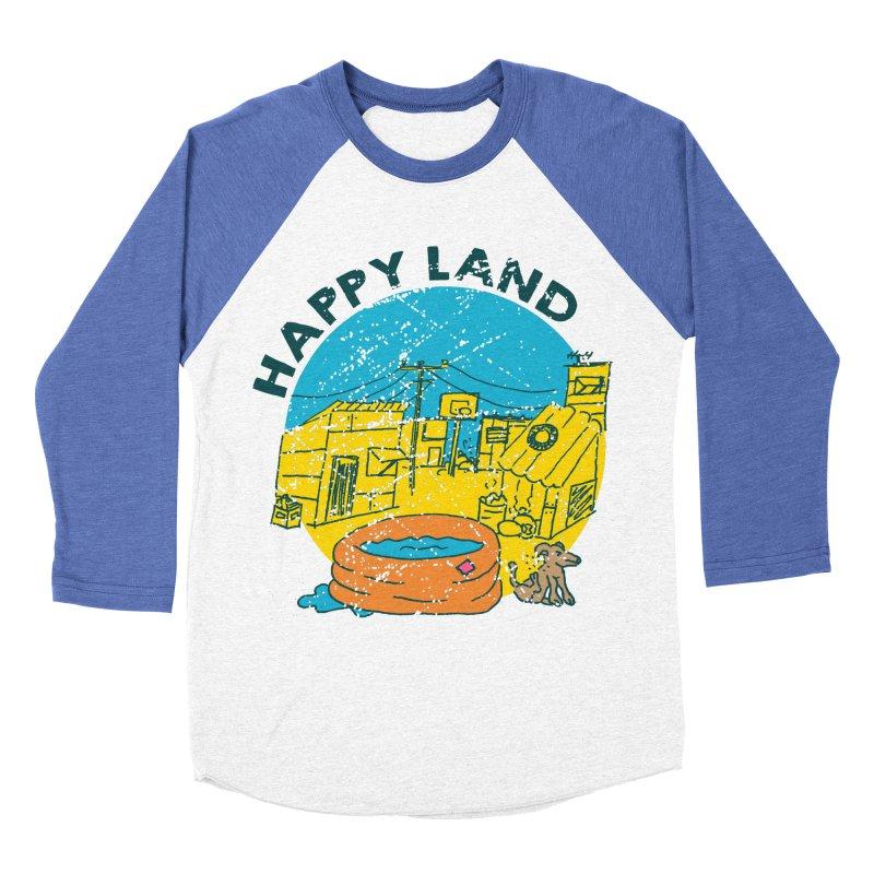 Happy Land Women's Baseball Triblend Longsleeve T-Shirt by Thirty Silver