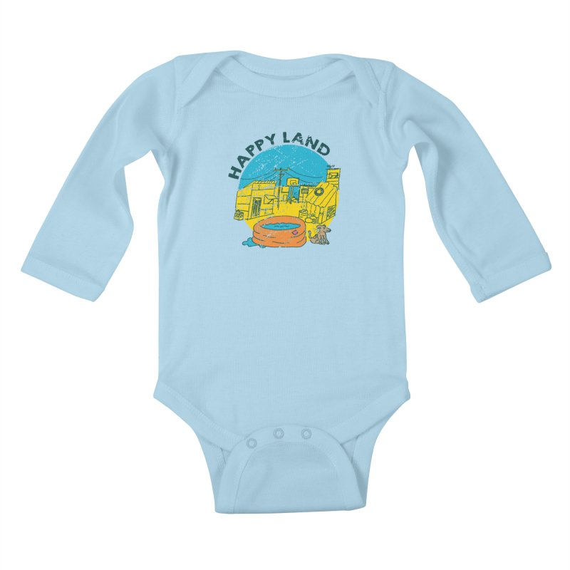 Happy Land Kids Baby Longsleeve Bodysuit by Thirty Silver