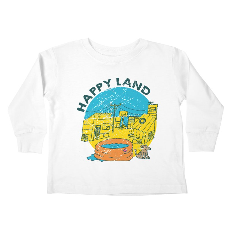 Happy Land Kids Toddler Longsleeve T-Shirt by Thirty Silver