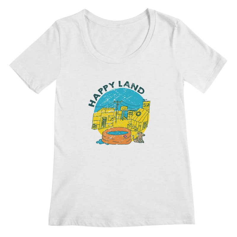 Happy Land Women's Regular Scoop Neck by Thirty Silver