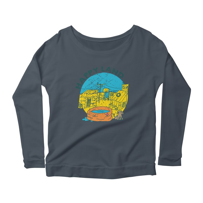 Happy Land Women's Scoop Neck Longsleeve T-Shirt by Thirty Silver