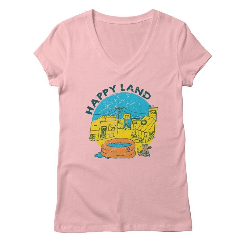 Happy Land Women's Regular V-Neck by Thirty Silver