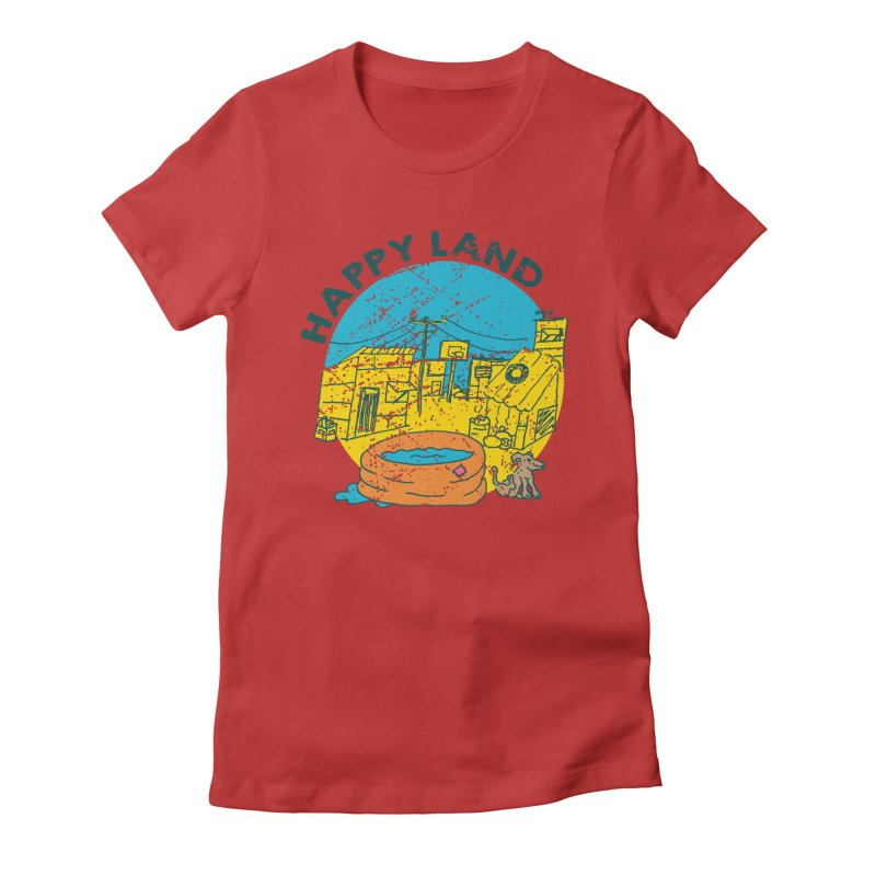 Happy Land Women's Fitted T-Shirt by Thirty Silver