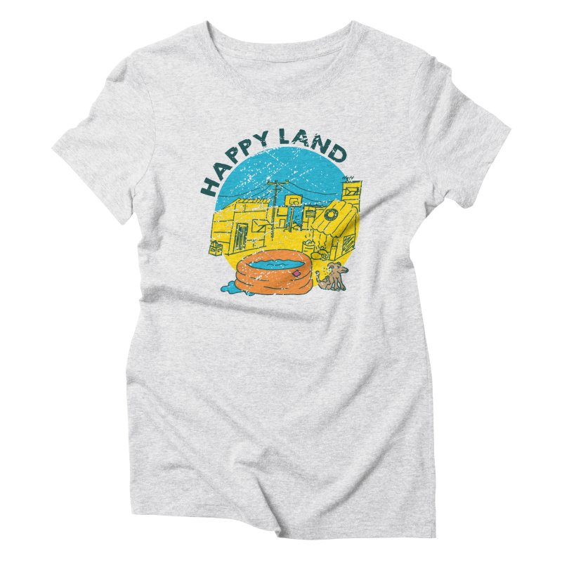 Happy Land Women's Triblend T-Shirt by Thirty Silver