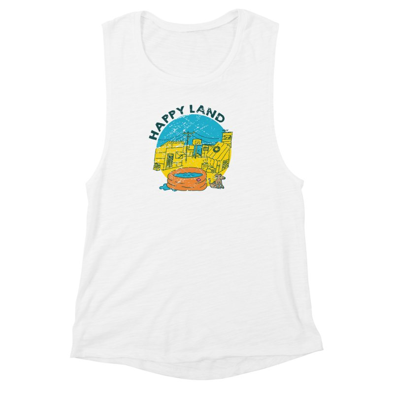 Happy Land Women's Muscle Tank by Thirty Silver