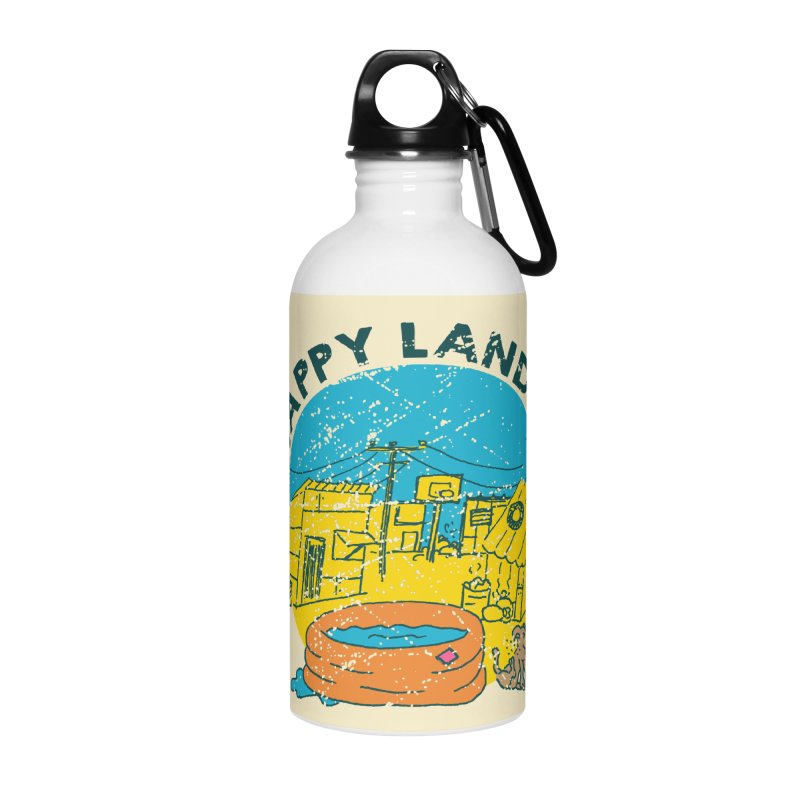 Happy Land Accessories Water Bottle by Thirty Silver