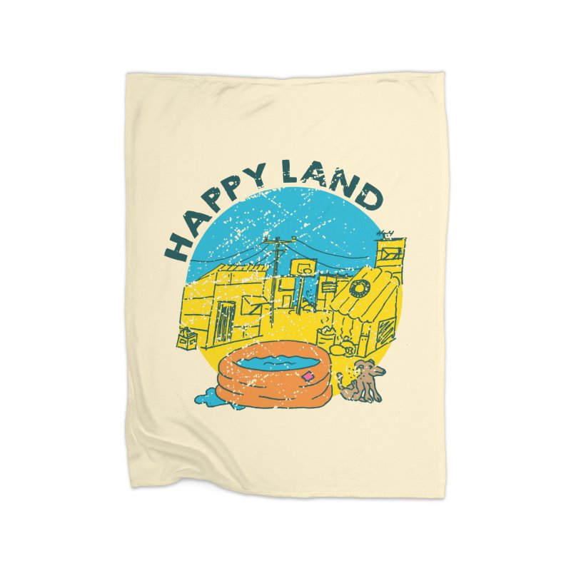 Happy Land Home Fleece Blanket Blanket by Thirty Silver