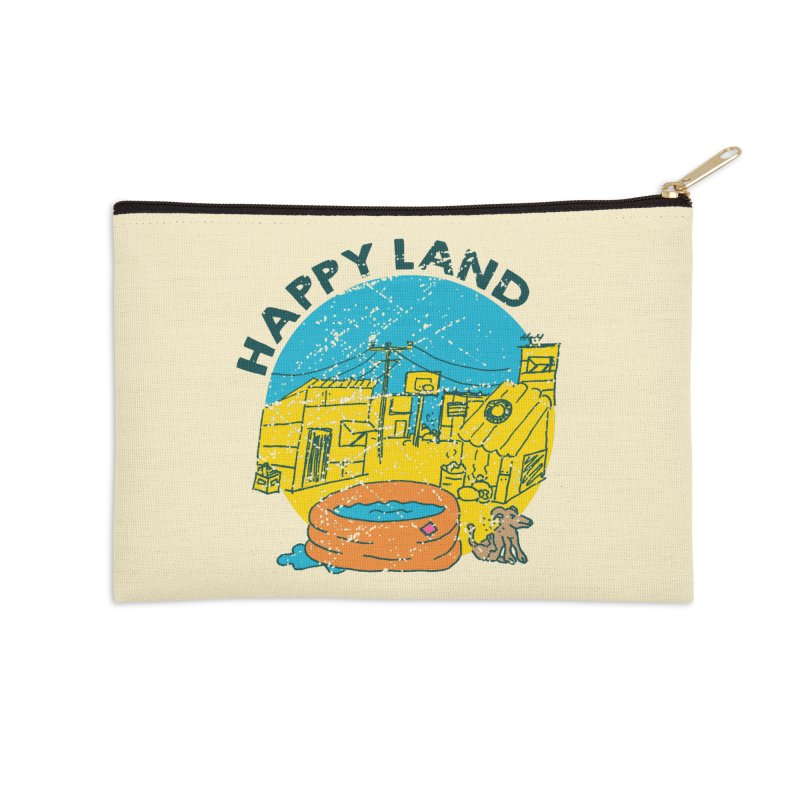 Happy Land Accessories Zip Pouch by Thirty Silver