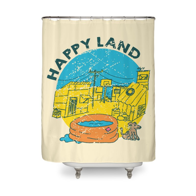 Happy Land Home Shower Curtain by Thirty Silver