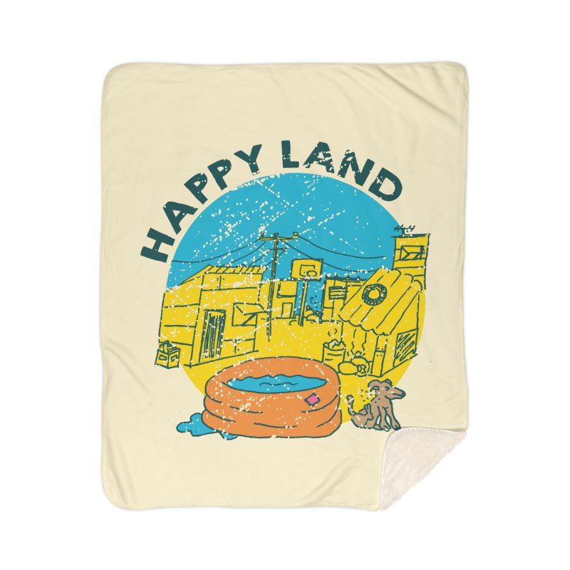 Happy Land Home Sherpa Blanket Blanket by Thirty Silver