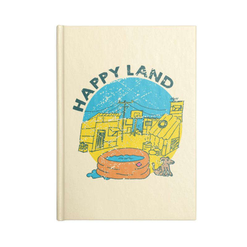 Happy Land Accessories Blank Journal Notebook by Thirty Silver