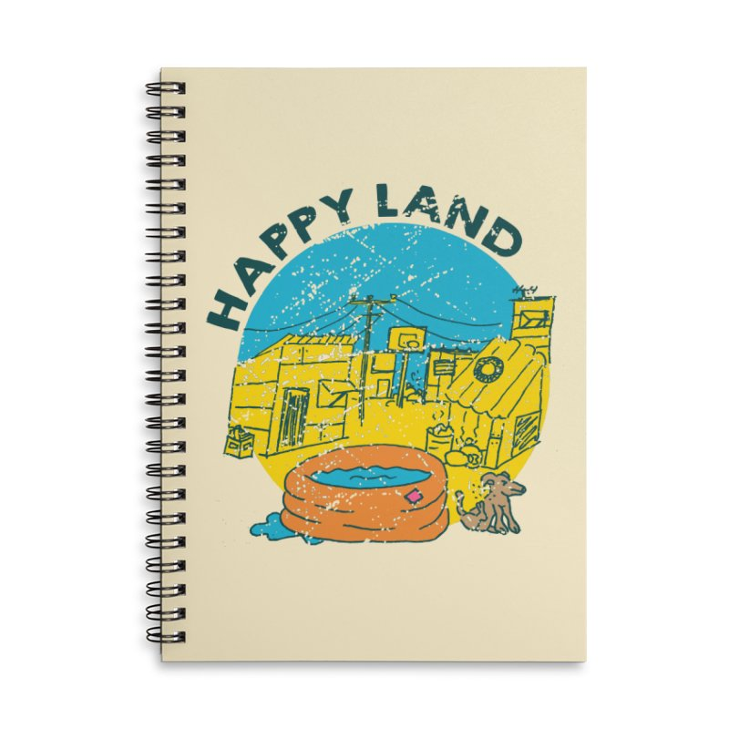 Happy Land Accessories Lined Spiral Notebook by Thirty Silver