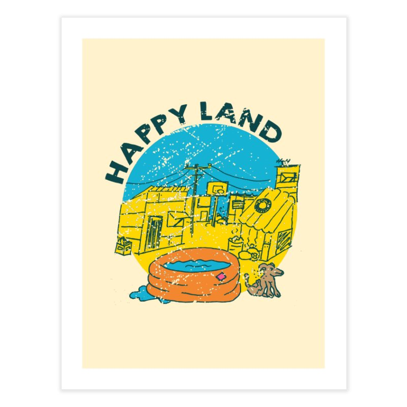 Happy Land Home Fine Art Print by Thirty Silver