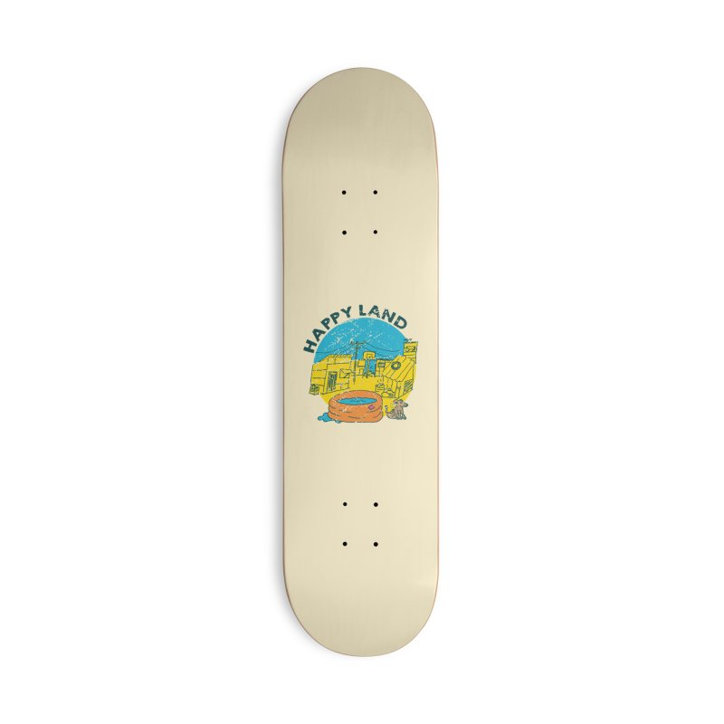 Happy Land Accessories Deck Only Skateboard by Thirty Silver