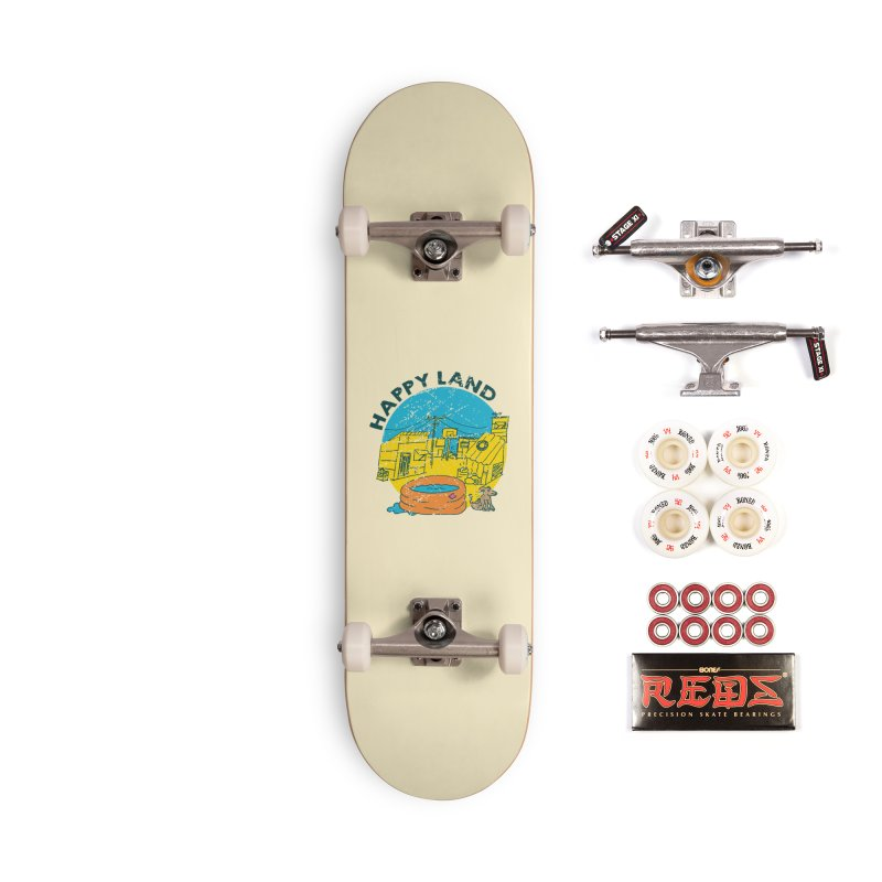 Happy Land Accessories Complete - Pro Skateboard by Thirty Silver