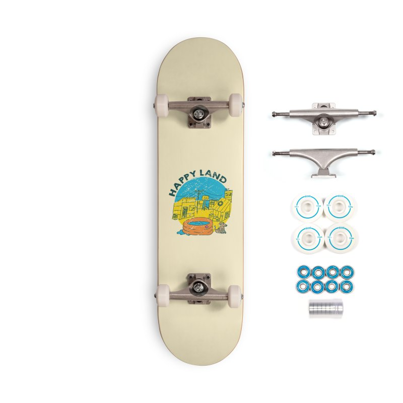 Happy Land Accessories Complete - Basic Skateboard by Thirty Silver