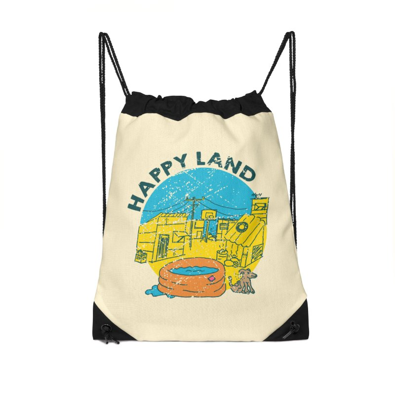 Happy Land Accessories Drawstring Bag Bag by Thirty Silver