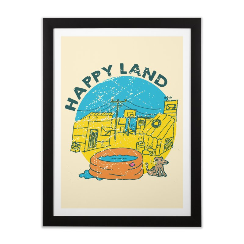 Happy Land Home Framed Fine Art Print by Thirty Silver