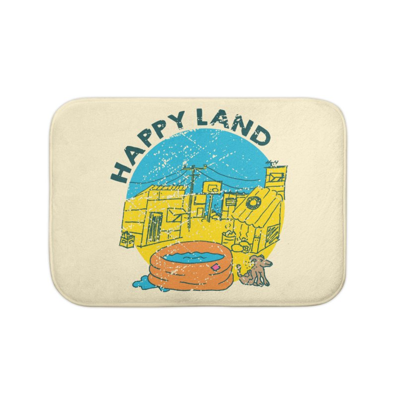 Happy Land Home Bath Mat by Thirty Silver