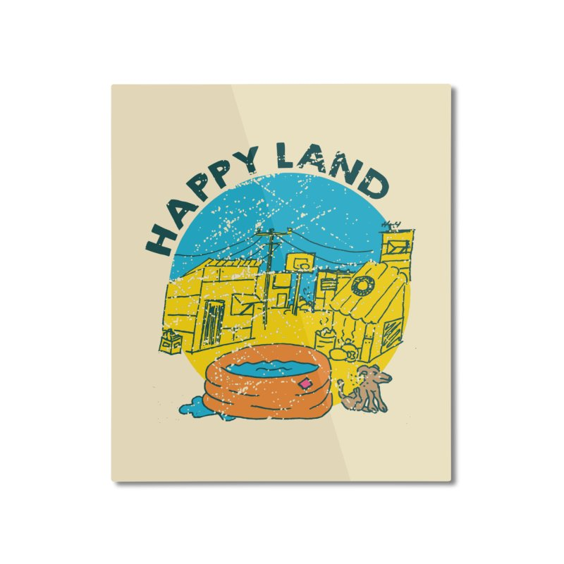 Happy Land Home Mounted Aluminum Print by Thirty Silver
