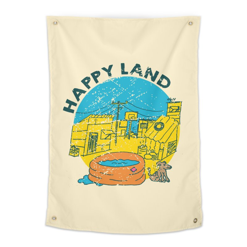 Happy Land Home Tapestry by Thirty Silver