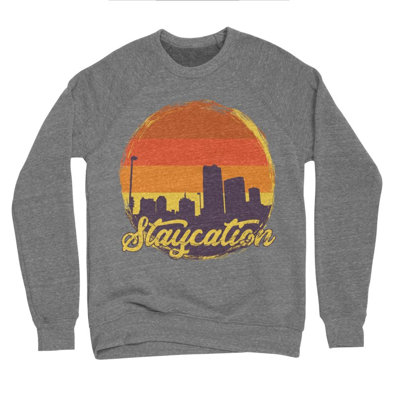 Staycation Men's Sponge Fleece Sweatshirt by Thirty Silver