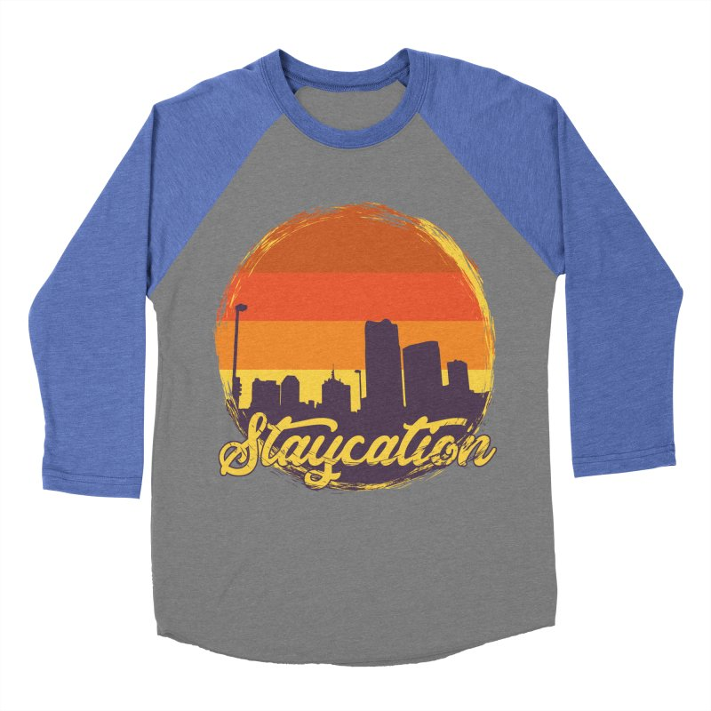 Staycation Men's Baseball Triblend Longsleeve T-Shirt by Thirty Silver