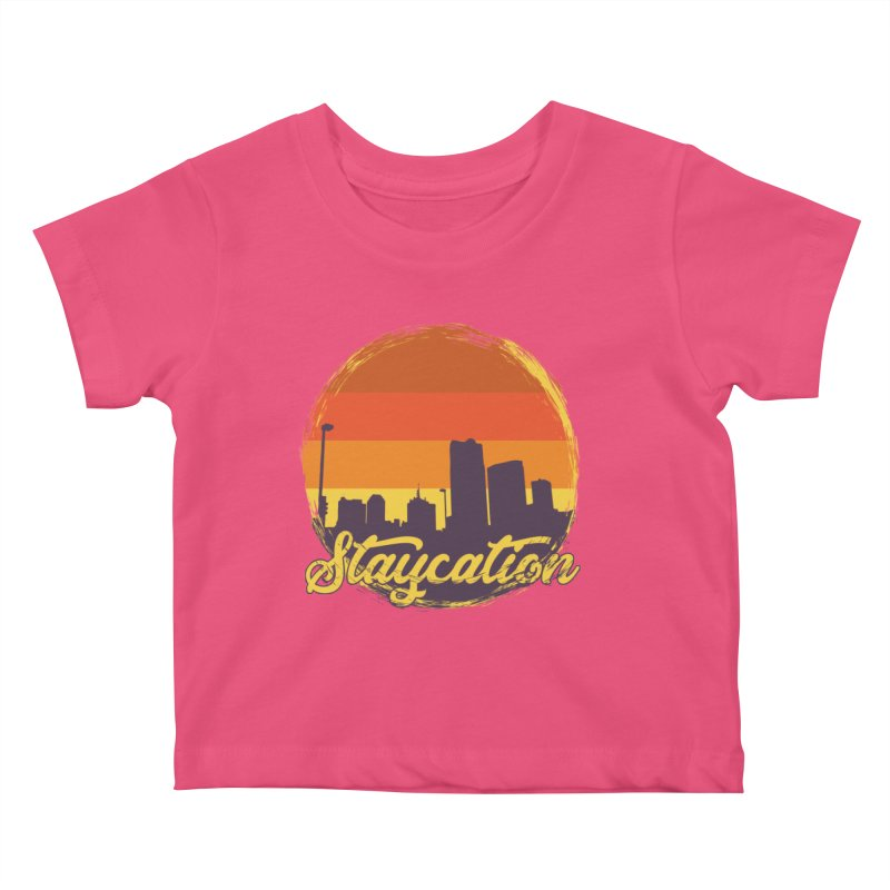 Staycation Kids Baby T-Shirt by Thirty Silver