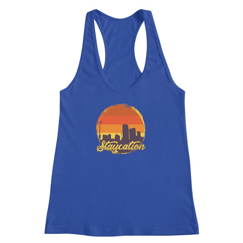 Staycation Women's Racerback Tank by Thirty Silver