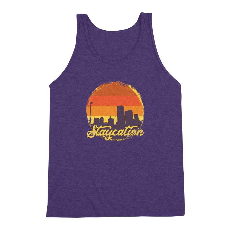 Staycation Men's Triblend Tank by Thirty Silver