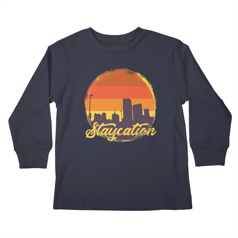 Staycation Kids Longsleeve T-Shirt by Thirty Silver