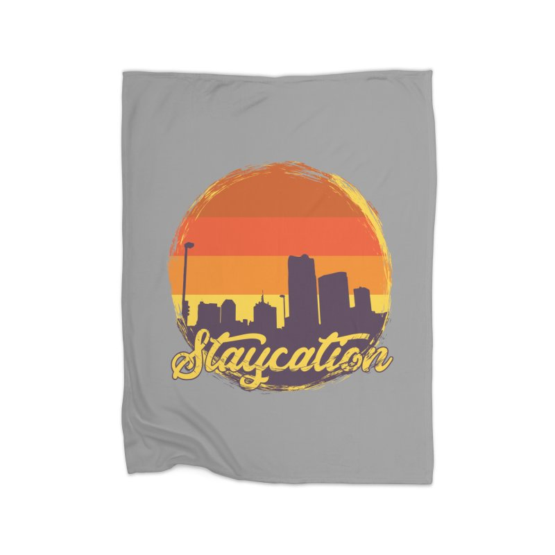 Staycation Home Fleece Blanket Blanket by Thirty Silver