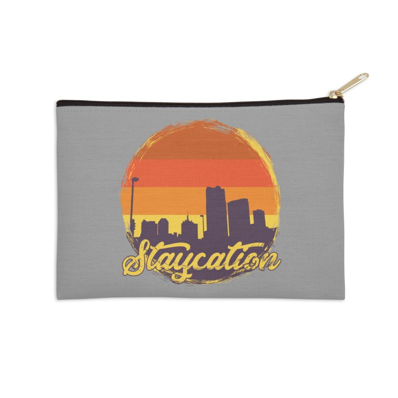 Staycation Accessories Zip Pouch by Thirty Silver