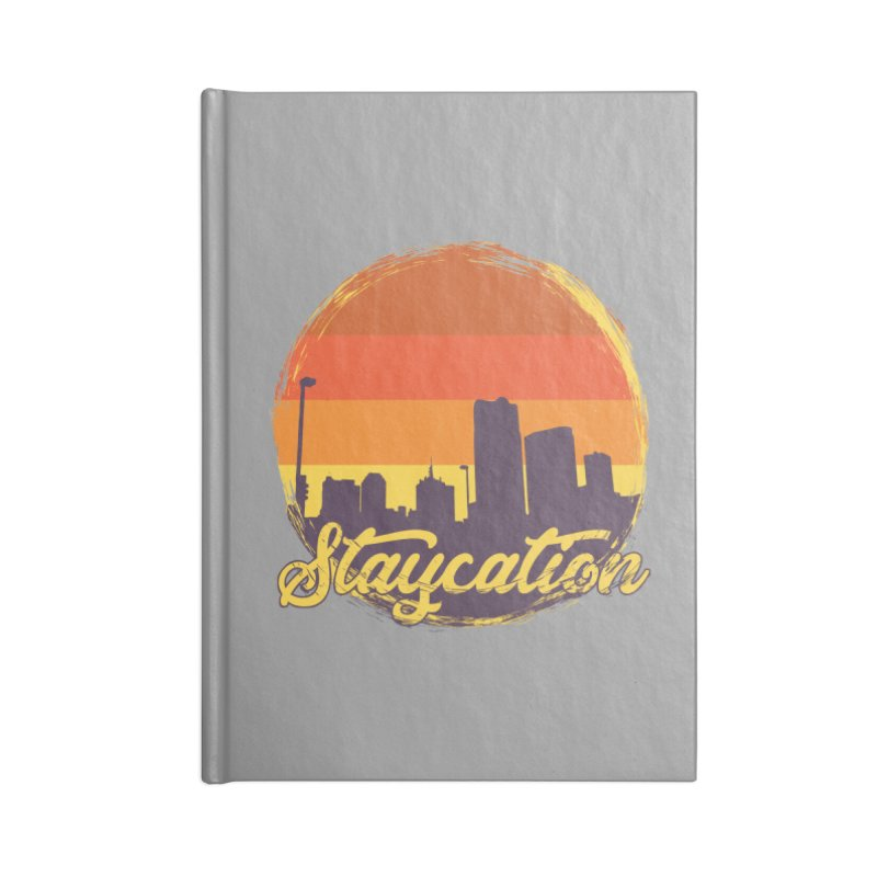 Staycation Accessories Blank Journal Notebook by Thirty Silver