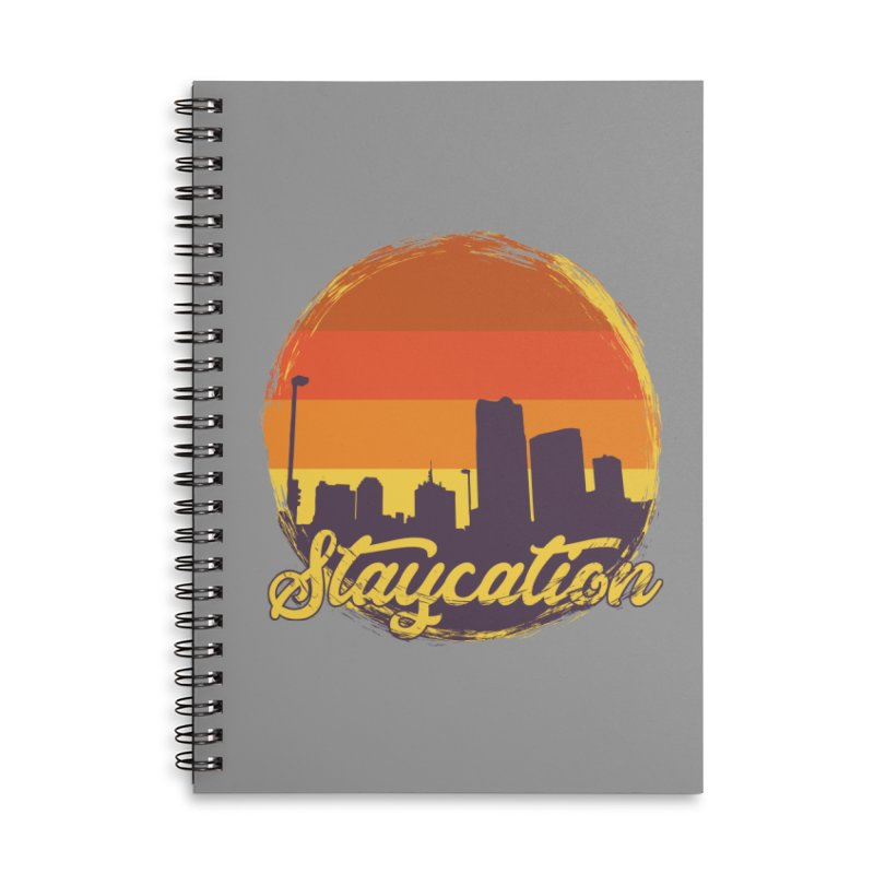 Staycation Accessories Lined Spiral Notebook by Thirty Silver