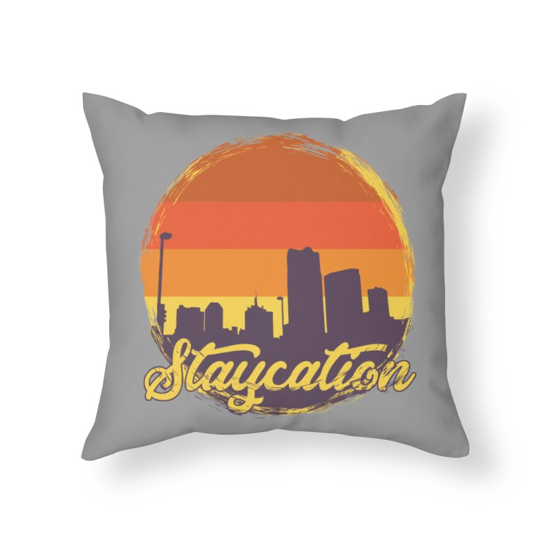Staycation Home Throw Pillow by Thirty Silver