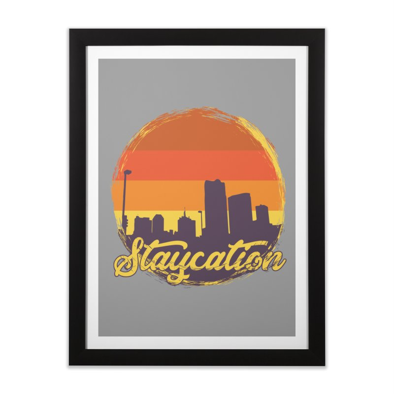 Staycation Home Framed Fine Art Print by Thirty Silver