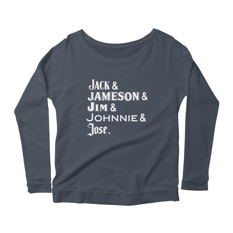 Happy Friends Women's Scoop Neck Longsleeve T-Shirt by Thirty Silver