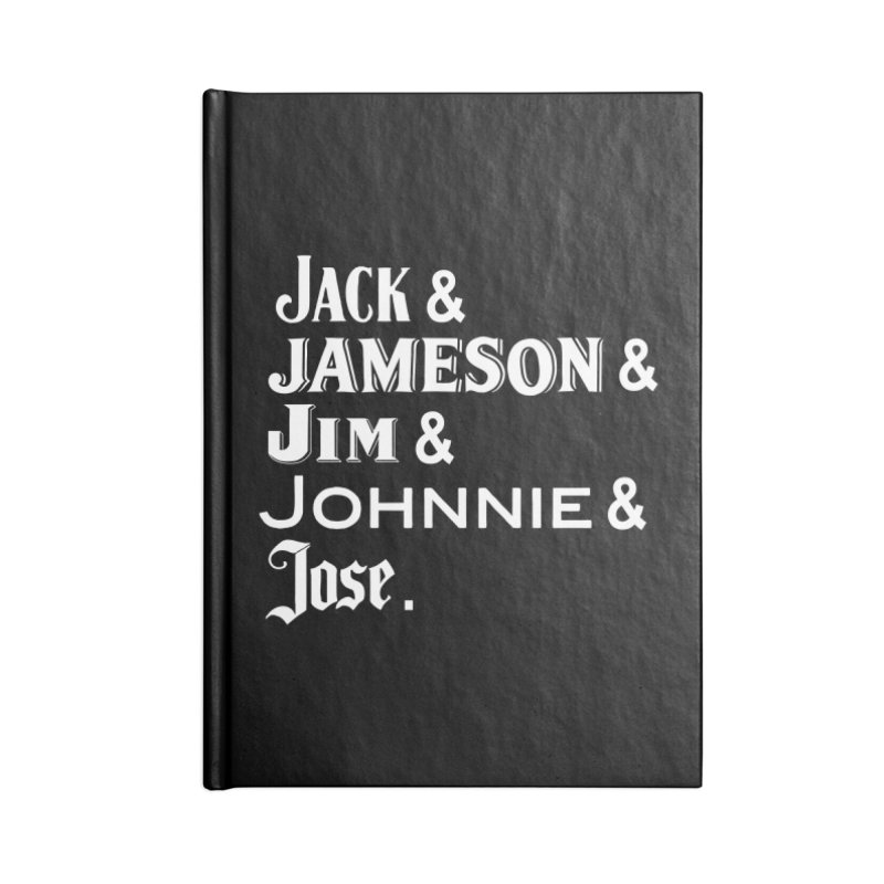 Happy Friends Accessories Lined Journal Notebook by Thirty Silver