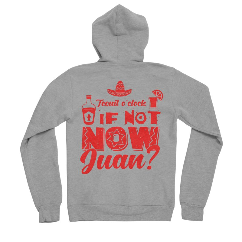 If not now, Juan? Men's Sponge Fleece Zip-Up Hoody by Thirty Silver
