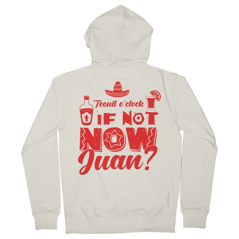 If not now, Juan? Men's French Terry Zip-Up Hoody by Thirty Silver