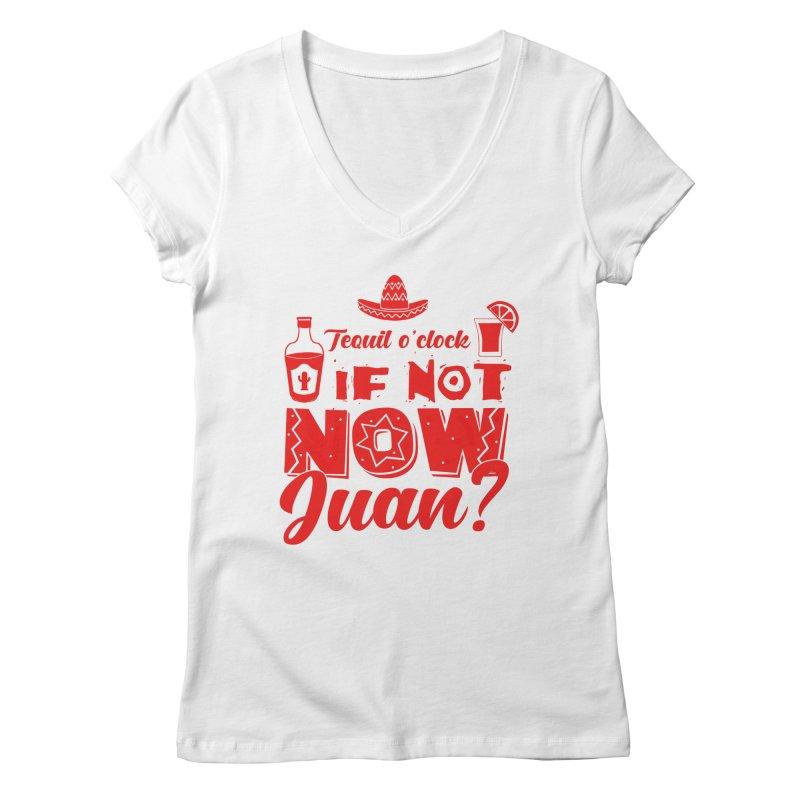 If not now, Juan? Women's Regular V-Neck by Thirty Silver