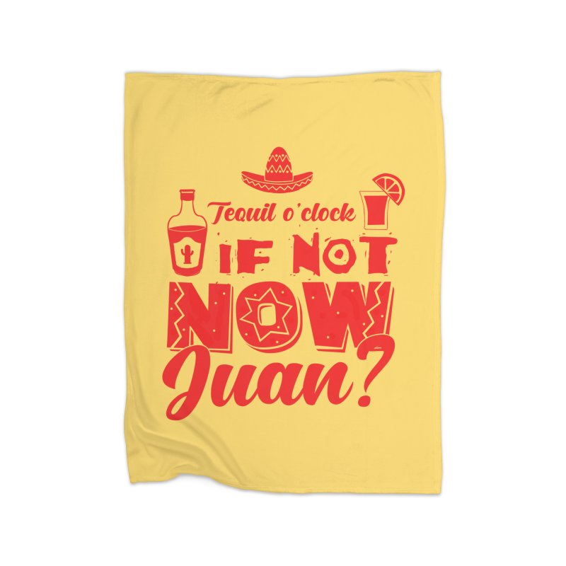 If not now, Juan? Home Fleece Blanket Blanket by Thirty Silver