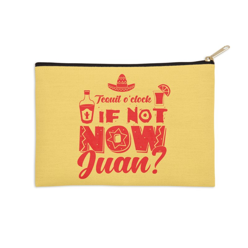 If not now, Juan? Accessories Zip Pouch by Thirty Silver